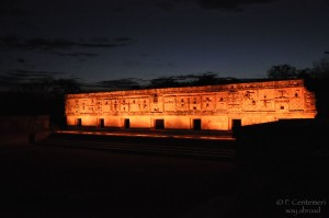 Uxmal by night