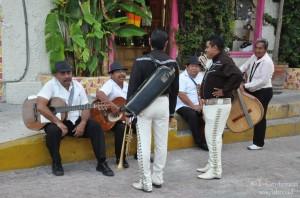 Musicisti a Playa del Carmen