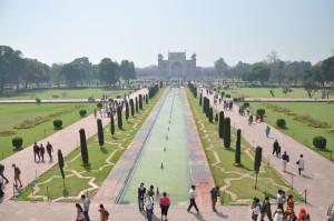 I giardini del complesso del Taj