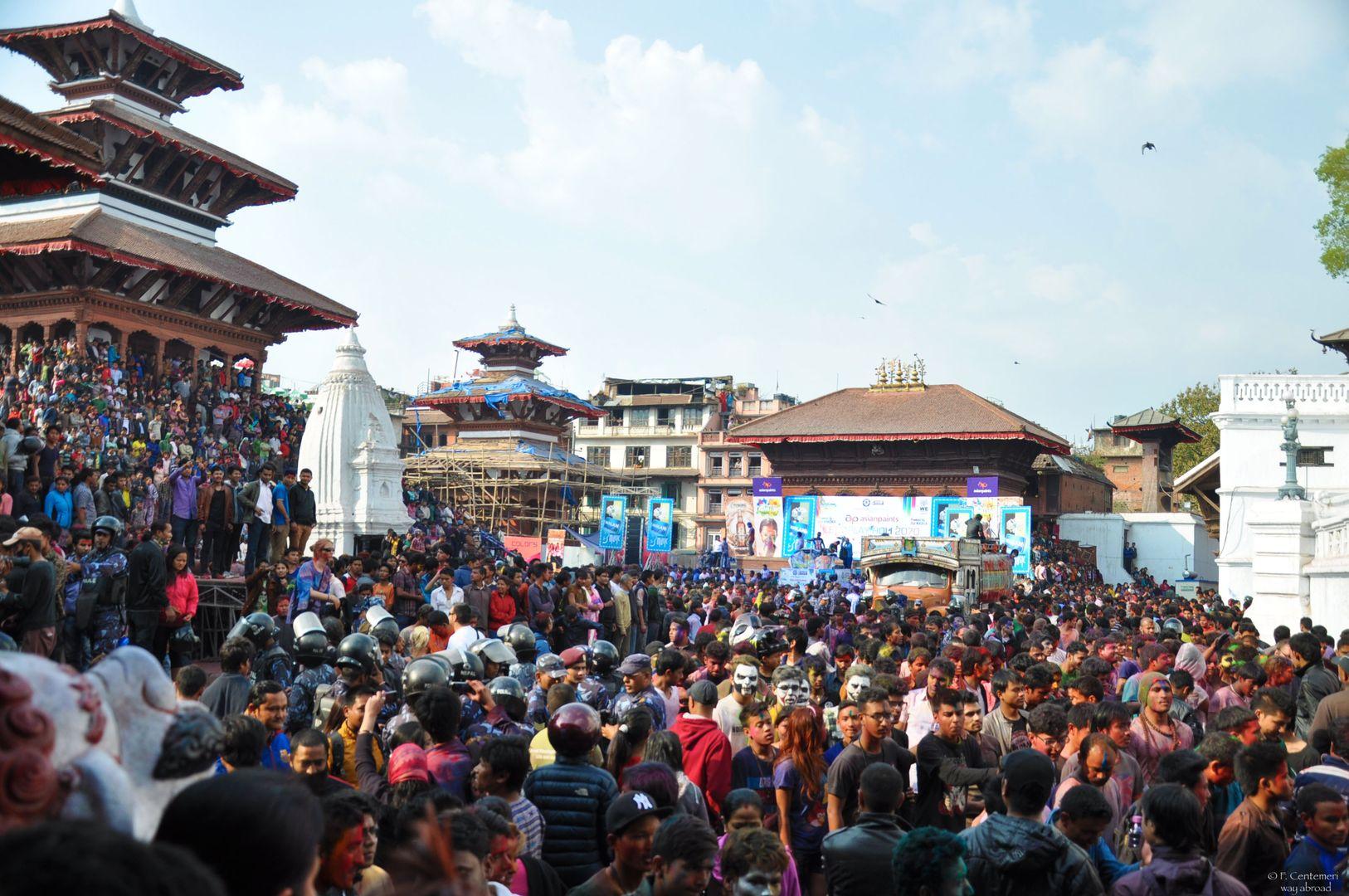 La piazza principale di Kathmandu