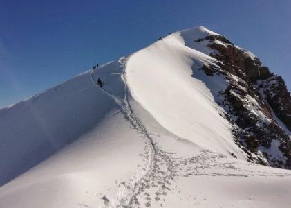 Alpinismo: via normale alla vetta del Polluce (4091 m slm)